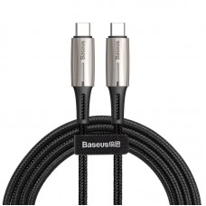 Кабель Baseus Water Drop-shaped Lamp Type-C PD2.0 60W Flash Charge Data Cable 20V 3A 2m (CATSD-K01) - Black