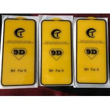 Защитное стекло 9D для Iphone X/XS/11 Pro