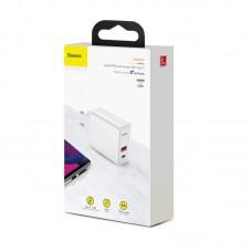 Сетевое зарядное устройство Baseus Speed PPS Quick charger C+U 30W EU (CCFS-C02) - White