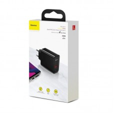 Сетевое зарядное устройство Baseus Speed PPS Quick charger C+U 30W EU (CCFS-C01) - Black