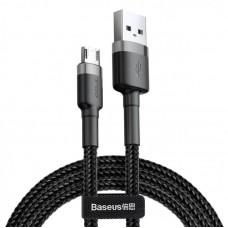 Кабель Baseus cafule Cable USB For Micro 2.4A (CAMKLF-AG1) 0.5M - Gray+Black