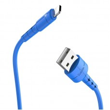 Кабель hoco X30 Star Charging data cable for Lightning - Blue