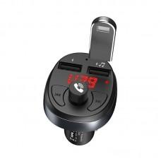 Автомобильное ЗУ hoco E41 In-car audio wireless FM transmitter - Black