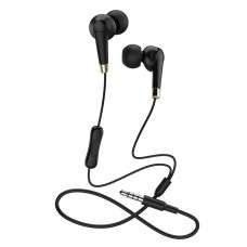 Наушники hoco M58 Amazing universal earphones with mic - Black