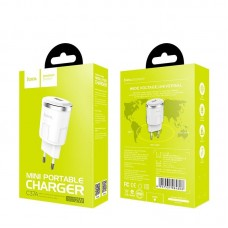 Сетевой адаптер hoco C37A Thunder power single port charger (EU) - White