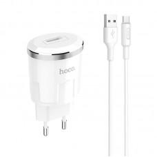 Сетевой адаптер hocoC37A Thunder power single port charger set (Micro) (EU) - White