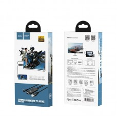 Кабель hoco UA14 Lightning to HDMI cable - Black