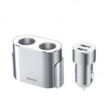 Автомобильное зарядное устройство Baseus High Efficiency One to Two Cigarette Lighter (CRDYQ-0S) - White