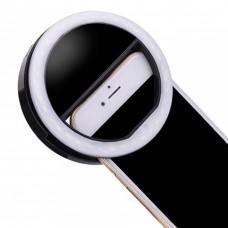 Селфи кольцо для телефона - Черный