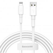 Кабель Baseus Mini White Cable USB For iP 2.4A 1m White (CALSW-02) - White