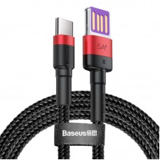 Кабель Baseus Cafule HW Quick Charging Data cable USB Double-sided Blind Interpolation For Type-C 40W 1m (CATKLF-P91) - Red/black
