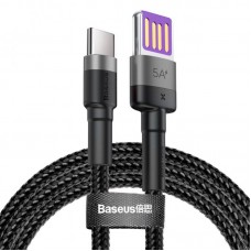 Кабель Baseus Cafule HW Quick Charging Data cable USB Double-sided Blind Interpolation For Type-C 40W 1m (CATKLF-PG1) - Gray/black