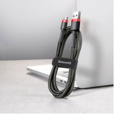 Кабель Baseus cafule Cable USB For Micro 2A 3m (CAMKLF-H91) - Red+Black