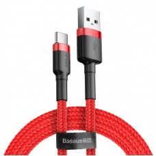 Кабель Baseus cafule Cable USB For Type-C 3A 1M (CATKLF-B09) - Red+Red