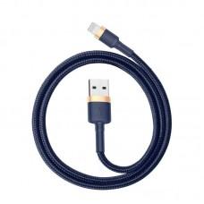 Кабель Baseus cafule Cable USB For iP 2.4A 1m (CALKLF-BV3) - Gold+Blue