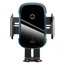Автомобильный держатель с беспроводной зарядкой Baseus Light Electric Holder Wireless Charger (15W) (WXHW03-01) - Black
