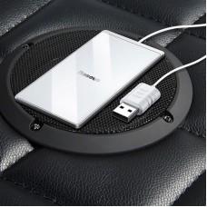 Беспроводная зарядка Baseus Card Ultra-thin Wireless Charger 15W (with USB cable 1m) (WX01B-S2 - White