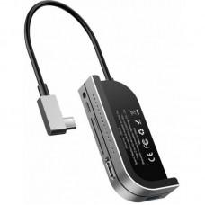 USB-концентратор Baseus Bend Angle No.7 Multifunctional Type-C HUB Converter (CAHUB-WJ0G) - Dark gray