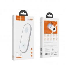 Беспроводная зарядка hoco CW20 Wisdom 2-in-1 wireless charger - White