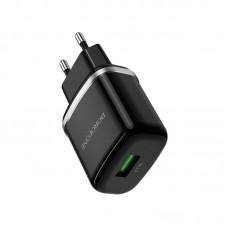 Сетевой адаптер Borofone BA36A High speed single port QC3.0 charger (EU) - Black