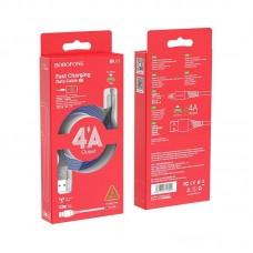 Кабель Borofone BU13 Craft Micro 4A fast charging data cable - Black