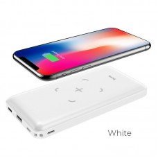 Power Bank hoco J50 Surf wireless charging mobile (10000mAh) - White