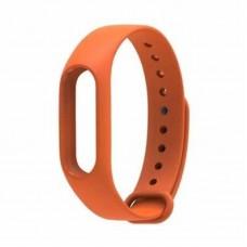 Ремешок Силиконовый для Xiaomi Mi Band 2 Оранжевый