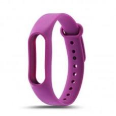 Ремешок Силиконовый для Xiaomi Mi Band 2 Фиолетовый