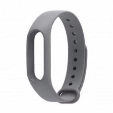 Ремешок Силиконовый для Xiaomi Mi Band 2 Серый