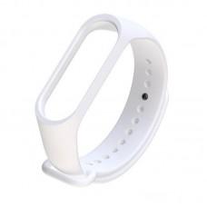 Ремешок Силиконовый Для Xiaomi Mi Band 3/4 Белый