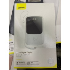 Power Bank Baseus Qpow Digital Display 3A 10000mAh (PPQD-B02) - White