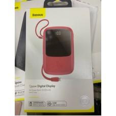 Power Bank Baseus Qpow Digital Display 3A 10000mAh (PPQD-B09) - Red