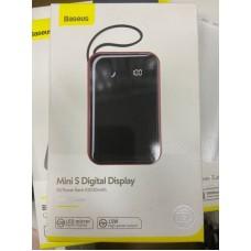 Power Bank Baseus Mini S Digital Display 3A 10000mAh (PPXF-B09) - Black/Red