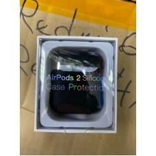 Чехол силиконовый new для AirPods 2 - Чёрный