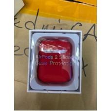 Чехол силиконовый new для AirPods 2 - Красный