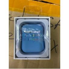 Чехол силиконовый new для AirPods 2 - Синий