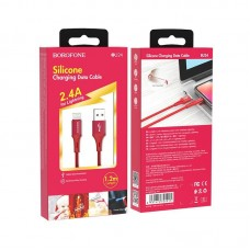Кабель Borofone BU24 Cool Silicone charging data cable for Lightning - Red