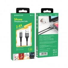 Кабель Borofone BU24 Cool Silicone charging data cable for Lightning - Black