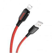 Кабель Borofone BU14 Heroic charging data cable for Lightning - Red