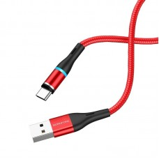 Кабель Borofone BU16 Skill magnetic charging cable for Type-C - Red