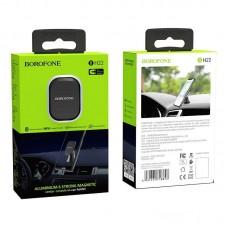Автомобильные держатель Borofone BH22 Ori aluminum alloy center console magnetic in-car holder - Black