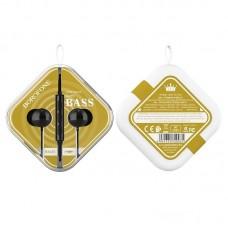 Наушники Borofone BM45 Sound wave earphones with mic - Black