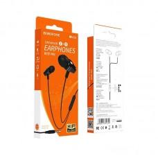Наушники Borofone BM38 Bright sound Universal earphones with mic - Black