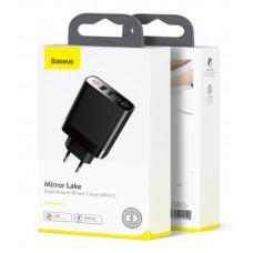 Сетевое зарядное устройство Baseus Mirror Lake Digital Display 4USB Travel Charger 30W (EU) (CCJMHB-B01) - Black