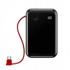 Внешний аккумулятор Baseus Mini S Digital Display 3A Power Bank 10000mAh (With Type-C Cable) (PPXF-A01) - Black