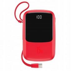 Внешний аккумулятор Baseus Q pow Digital Display 3A Power Bank 10000mAh (With Type-C Cable) (PPQD-A09) - Red