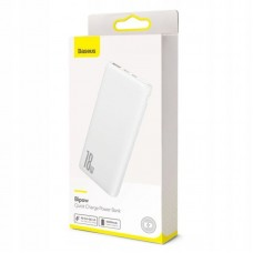 Внешний аккумулятор Baseus Bipow Quick Charge Power Bank PD+QC 10000mAh 18W (PPDML-02) - White