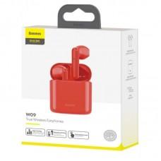 Наушники Baseus беспроводные Encok True Wireless Earphones W09 (NGW09-09) - Red