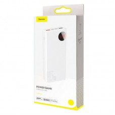 Внешний аккумулятор Baseus Mulight Digital Display Quick Charge Power Bank 45W 20000mAh (PPMY-A02) - White
