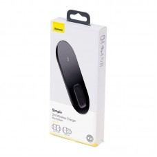 Беспроводное зарядное устройство Baseus Simple 2in1 Wireless Charger Pro Edition For Phones+Pod (WXJK-C01) - Black